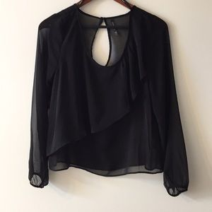 Sheer black top by Zinga size M